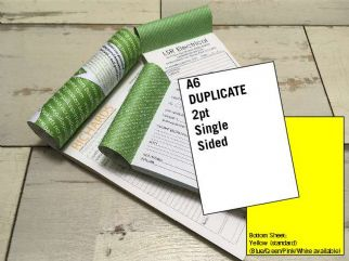 A6 Duplicate - 2 part (2pt) Single Sided